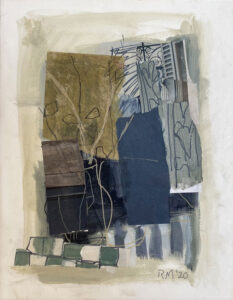 ROSIE MOORE French Balcony mixed media on paper, 18 x 14 inches SOLD