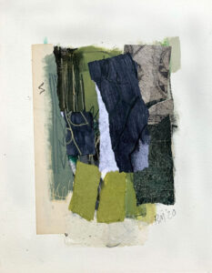 ROSIE MOORE Green Path mixed media on paper, 18 x 14 inches $1600