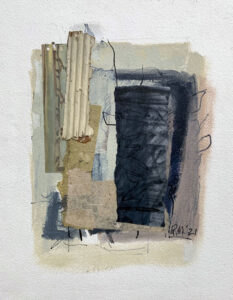 ROSIE MOORE Outside the Box mixed media on paper, 18 x 14 inches $1600