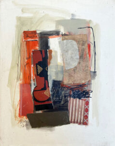 ROSIE MOORE Red Interior mixed media on paper, 20 x 16 inches $1800