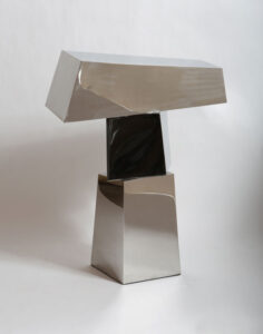 STEPHEN PORTER Tee 1 stainless steel, 40h x 30 x 13 inches $6000