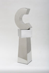 STEPHEN PORTER Untitled C2 stainless steel, 39h x 12 x 12 inches $5000