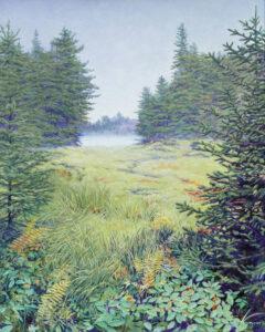JANICE ANTHONY Algonquin Marsh acrylic on linen, 20 x 16 inches $3400