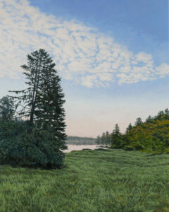 JANICE ANTHONY Cobscook Dawn acrylic on linen, 20 x 16 inches SOLD