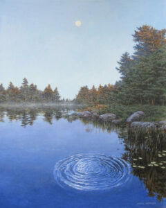 JANICE ANTHONY Night Ripples acrylic on linen, 20 x 16 inches $3400