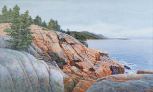 JANICE ANTHONY Otter Cliffs acrylic on linen, 21 x 35 inches $7200