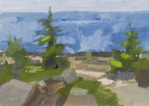 PHILIP FREY Surf at Schoodic oil on panel, 5 x 7 inches $600