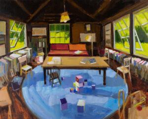 PHILIP FREY Children's Room oil on linen, 24 x 30 inches $3800