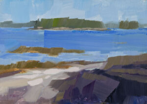 PHILIP FREY Grindstone Coast oil on panel, 5 x 7 inches $600