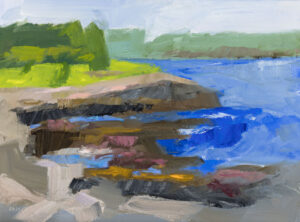 PHILIP FREY Intertidal oil on canvas, 12 x 16 inches $1600