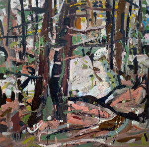 JON IMBER Quarry Wood oil on panel, 36 x 36 inches $20,000