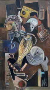 JON IMBER Ropes and Pulleys, 1994 oil on panel, 41 x 23 inches $25,000