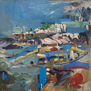 JON IMBER Stonington Harbor 5, 2003 oil on panel, 24 x 24 inches $23,000
