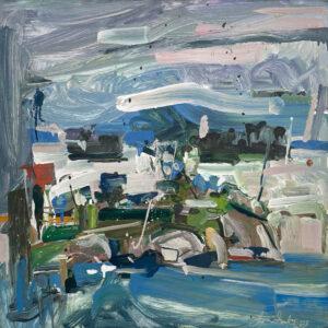 JON IMBER Stonington Harbor 6, 2003 oil on panel, 24 x 24 inches $23,000