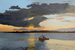 B MILLNER Day's End oil on canvas wrapped panel, 24 x 30 inches SOLD