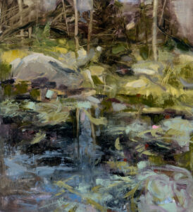 LINDA PACKARD Remembrance oil on paper mounted on panel, 21 x 19 inches $2400